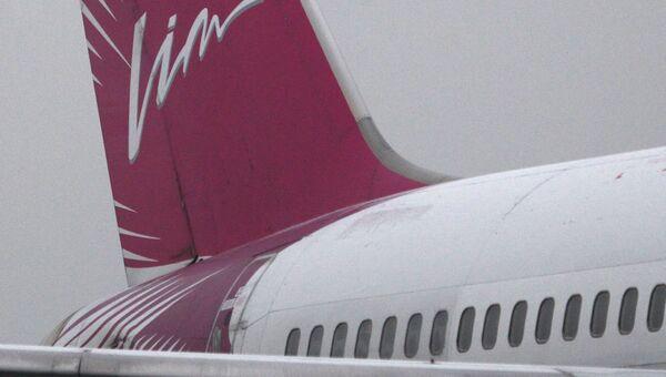Название авиакомпании Vim-avia на хвостовой части самолета