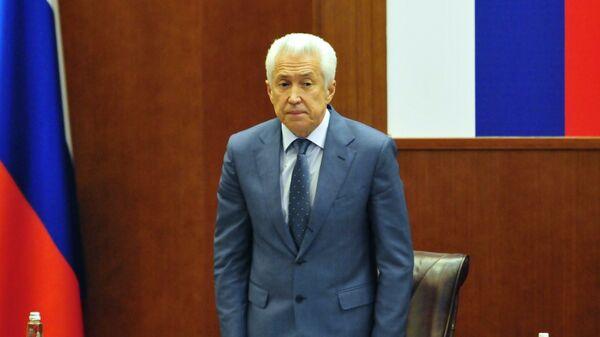 Врио главы Дагестана Владимир Васильев во время церемонии представления в Махачкале. 5 октября 2017