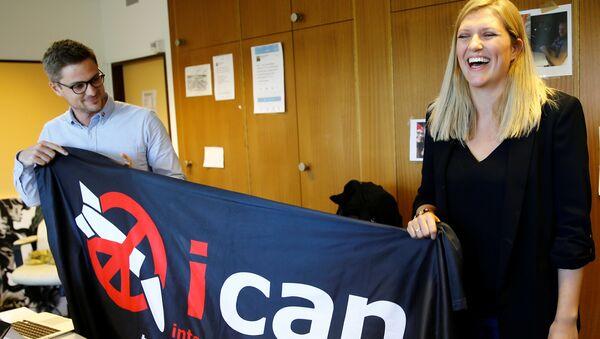 Глава международной кампании по запрещению ядерного оружия ICAN Беатрис Фин. 6 октября 2017