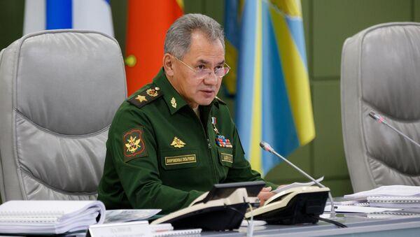 Министр обороны РФ Сергей Шойгу. 6 октября 2017