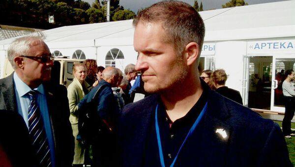 Глава прибывшей в Крым делегации Норвегии Хендрик Вебер