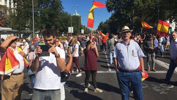 Акция протеста в Мадриде. 7 октября 2017