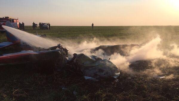 Крушение легкомоторного самолета. Архивное фото