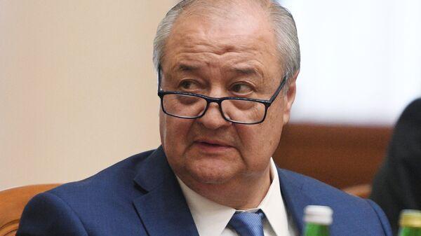 Министр иностранных дел Узбекистана Абдулазиз Камилов на заседании совета министров иностранных дел государств – участников СНГ в Сочи. 10 октября 2017