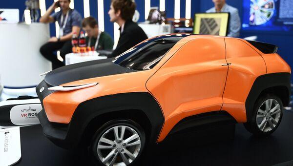 Концепт-модель автомобиля Лада-2050, демонстрируемая на выставке в рамках международного форума Открытые Инновации- 2017  в Москве. 16 октября 2017