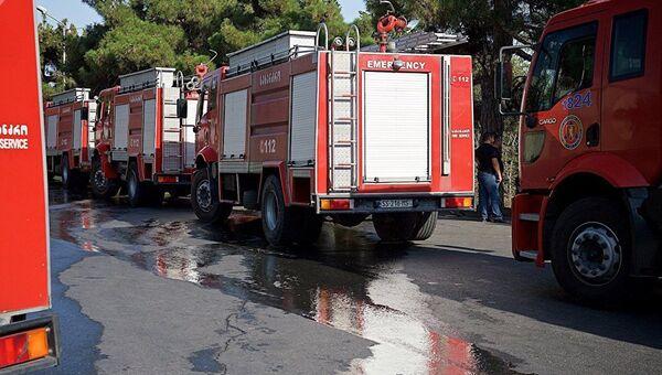 Автомобили пожарной службы Грузии. Архивное фото