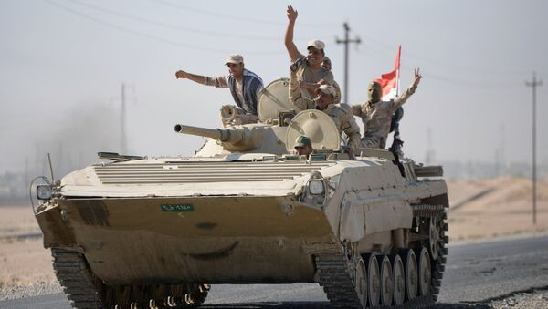 Иракские военные в Киркуке, Ирак. 16 октября 2017