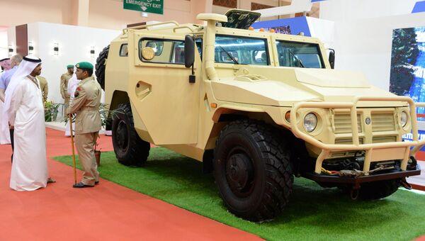 Бронеавтомобиль Тигр на международной оборонной выставке BIDEC-2017 в Бахрейне. 16 октября 2017