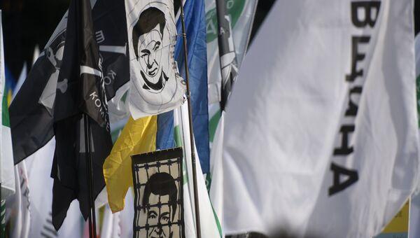На акции в поддержку политической реформы в Киеве. 17 октября 2017