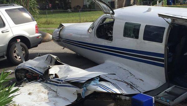 Разбившийся легкомоторный самолет во Флориде. 18.10.2017