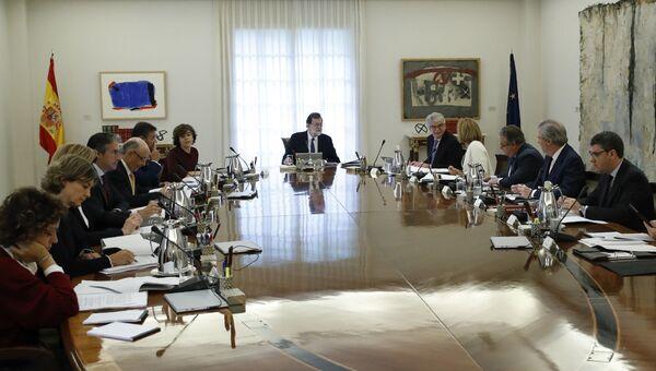 Заседание кабинета министров в Мадриде, Испания. 21 октября 2017