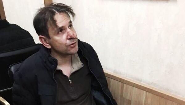 Задержанный в редакции Эхо Москвы. 23 октября 2017