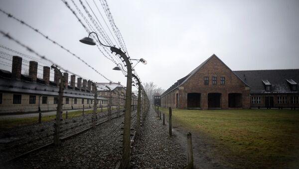 Концентрационный лагерь Аушвиц-Биркенау в Освенциме, на территории которого в 1947 году был создан музей. Архивное фото