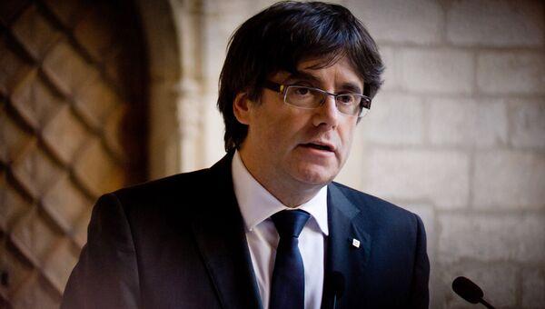 Глава женералитета Каталонии Карлес Пучдемон. 26 октября 2017