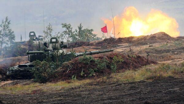 Танк Т-72Б3 во время учений Запад-2017