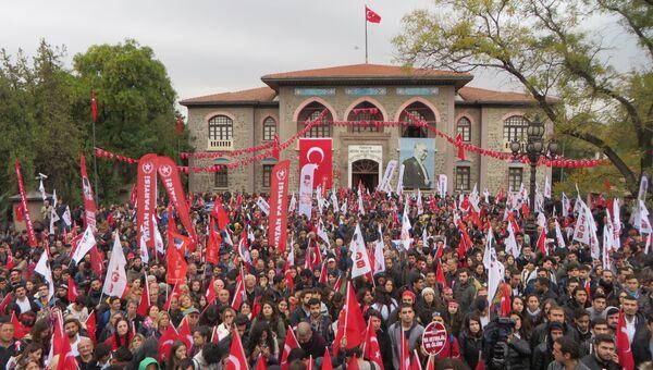 Многотысячная манифестация в честь Дня Республики прошла в Анкаре