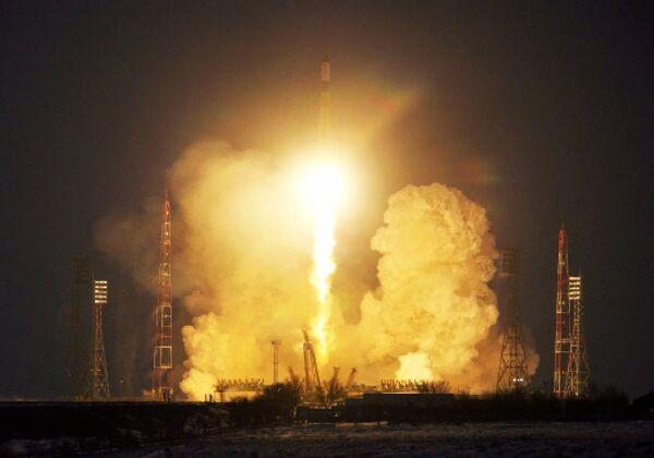 Старт ракеты с Байконура