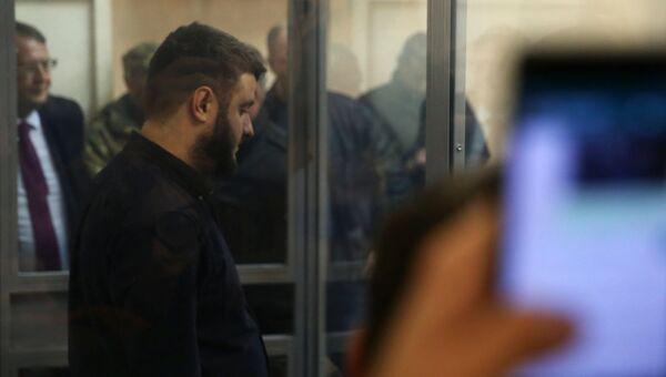 Сын министра внутренних дел Украины Александр Аваков во время заседания суда в Киеве. 2 ноября 2017