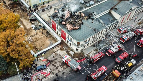 Пожар в здании Музея изобразительных искусств им. А. С. Пушкина. 3 ноября 2017