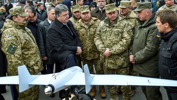 БПЛА на выставке военной техники и оборудования в Киеве