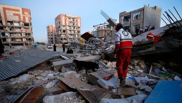 Поисково-спасательные работы после землетрясения в Иране