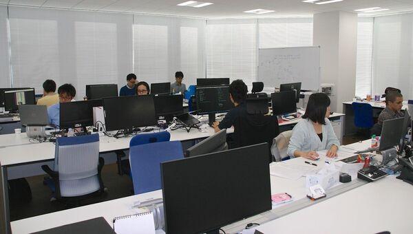 Офис биржи криптовалют Quoinex в Токио