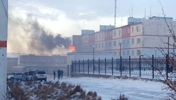 Пожар в жилом доме в городе Анадырь. 13 ноября 2017