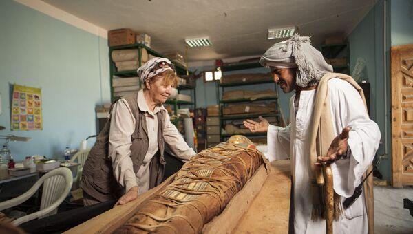 Экспедиция ЦЕИ РАН, нашедшая мумию с золотой маской в Фаюмском оазисе. 16 ноября 2017