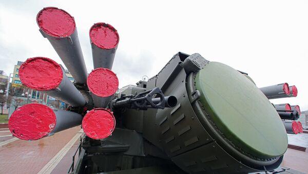 Зенитный ракетно-пушечный комплекс Панцирь-С1. Архивное фото
