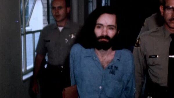 Серийный убийца Чарльз Мэнсон и его сообщницы. Кадры из архива