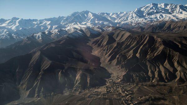 Вид на город Бамиан в Афганистане