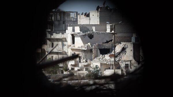 Вид на жилой квартале города Алеппо