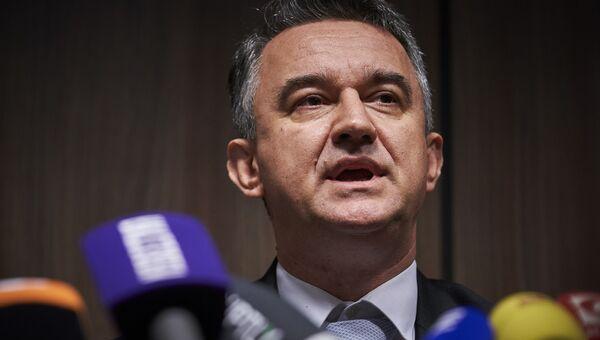 Дарко Младич во время пресс-конференции после того, как МТБЮ вынес приговор сербскому генералу Ратко Младичу. 22 ноября 2017
