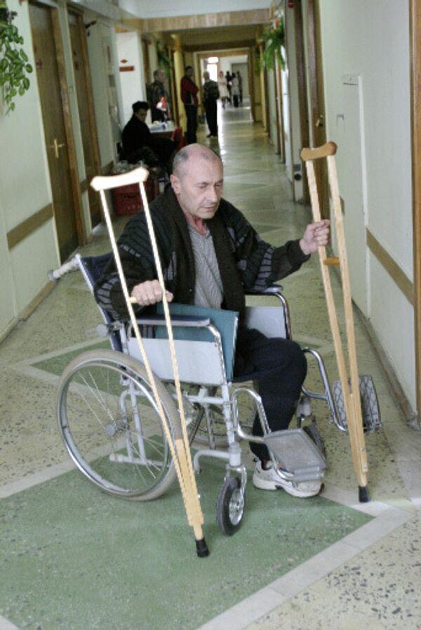 В инвалидном кресле. Архив