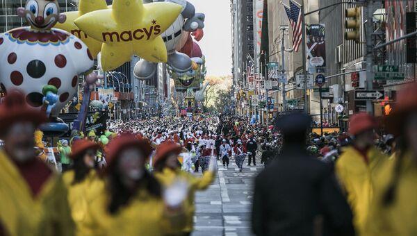 Ежегодный парад Мэйси в честь Дня благодарения в Нью-Йорке. Архивное фото