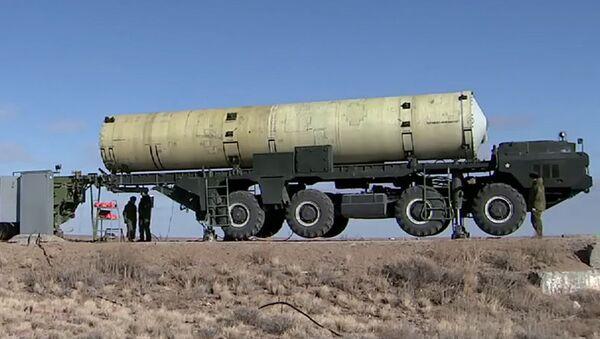 Модернизированная противоракета системы ПРО на полигоне Сары-Шаган