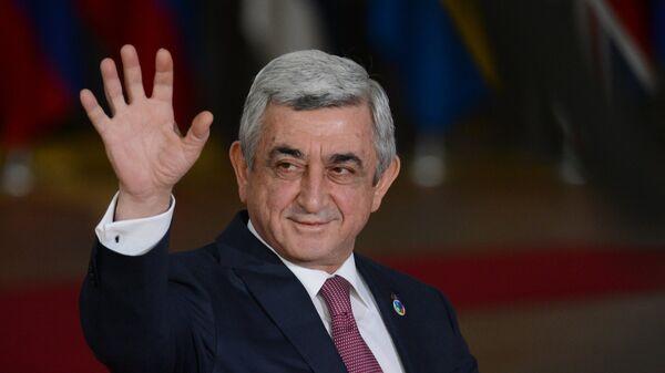 Президент Армении Серж Саргсян перед началом 5-го Саммита Восточного партнерства в Брюсселе. 24 ноября 2017