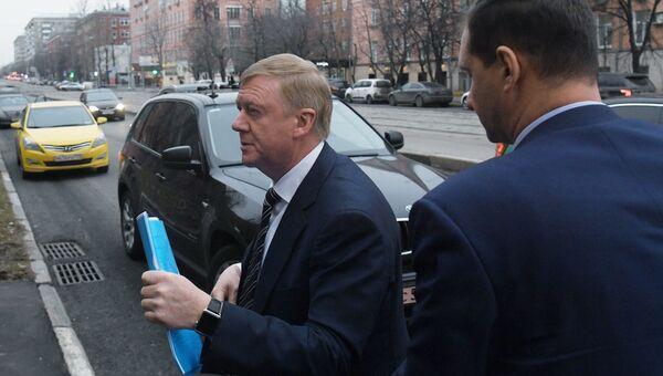 Председатель правления УК Роснано Анатолий Чубайс направляется в Черемушкинский суд Москвы. 24 ноября 2017