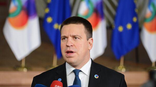 Премьер-министр Эстонии Юри Ратас перед началом 5-го Саммита Восточного партнерства в Брюсселе. 24 ноября 2017