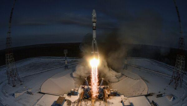 Запуск ракеты-носителя Союз-2.1б с космическим аппаратом Метеор №2-1 с космодрома Восточный. 28 ноября 2017