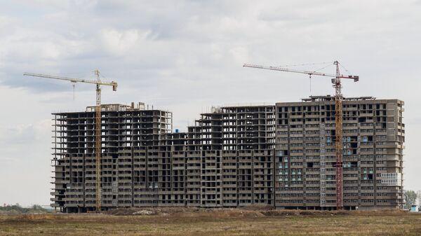 Жилищное строительство. Архивное фото