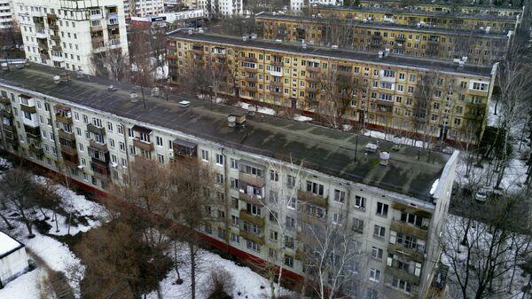 Жилые дома в районе Кузьминки в Москве