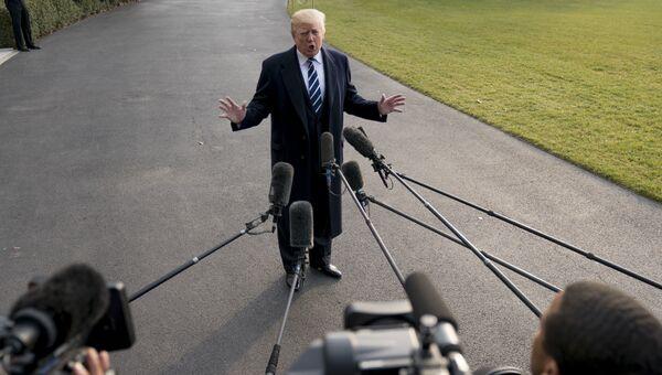 Президент США Дональд Трамп заявил во время встречи с журналистами. 2 декабря 2017
