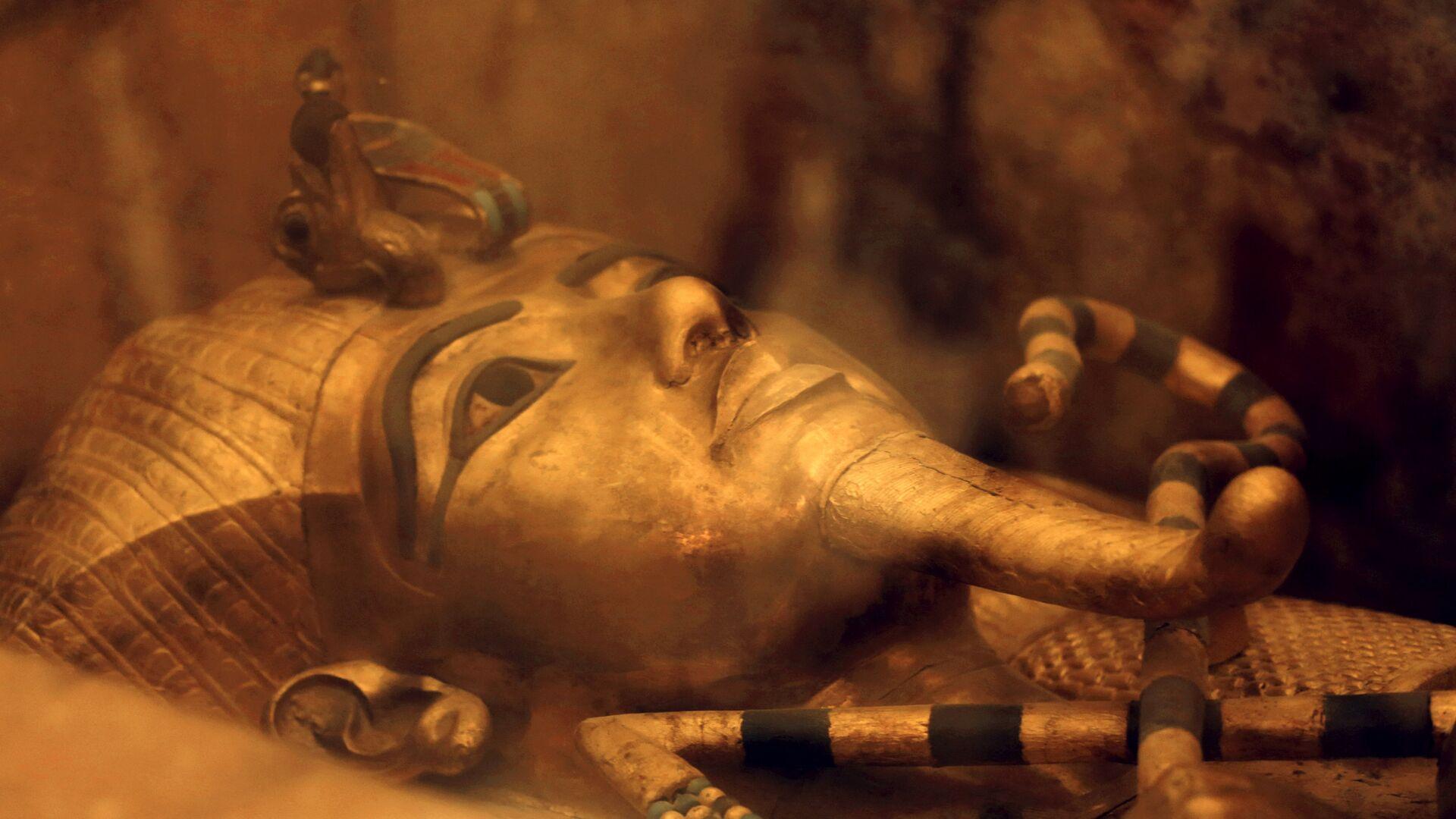 Один из саркофагов короля Египта Тутанхамона - РИА Новости, 1920, 04.11.2020
