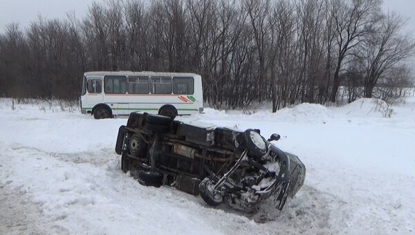 Последствия ДТП в Кемеровской области. 7 декабря 2017