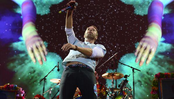 Певец Крис Мартин из группы Coldplay