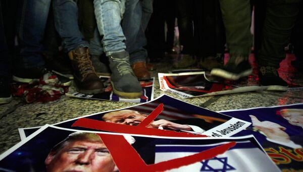 Протест в Вифлееме против решения президента США Дональда Трампа признать Иерусалим столицей Израиля. Архивное фото