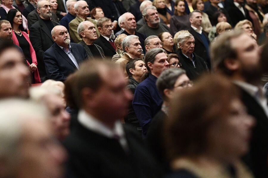 Участники Х съезда Союза кинематографистов России в Москве. 11 декабря 2017