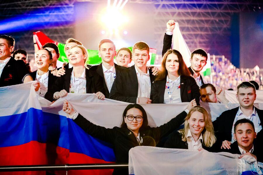 Национальная сборная России на ЧМ по профессиональному мастерству WorldSkills Abu Dhabi 2017