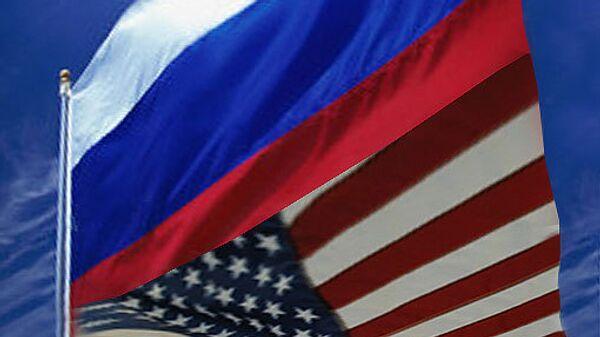 Флаг США, РФ